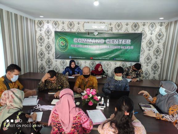 Rapat Monitoring Akreditasi Penjaminan Mutu Pengadilan Negeri Muara Bungo Tahun 2021