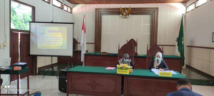 Sosialisasi SK Dirjen Badilum Nomor 1692/ DJU/ SK/PS.00/12/2020 tentang Pedoman Pelaksanaan Pelayanan bagi Penyandang Disabilitas di Pengadilan Tinggi dan Pengadilan Negeri