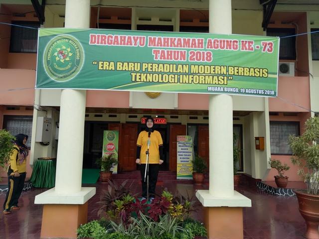 Upacara Peringatan HUT MARI ke-73 di PN. Muara Bungo