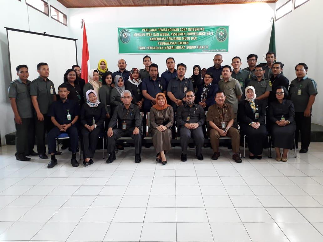Assesmen Surveillance dan Penilaian Persiapan Zona Integritas menuju Wilayah Bebas Korupsi (WBK) dan Wilayah Birokrasi Bersih dan Melayani (WBBM) di Pengadilan Negeri Muara Bungo Kelas II