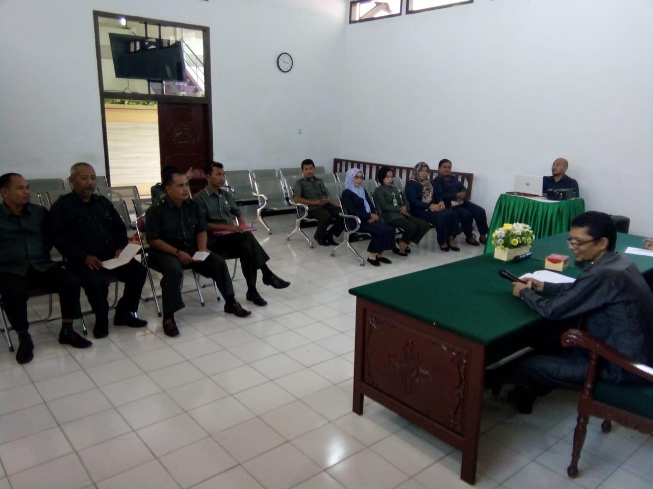 Rapat Kepaniteraan PN. Muara Bungo Kelas II Edisi Bulan Februari 2019...