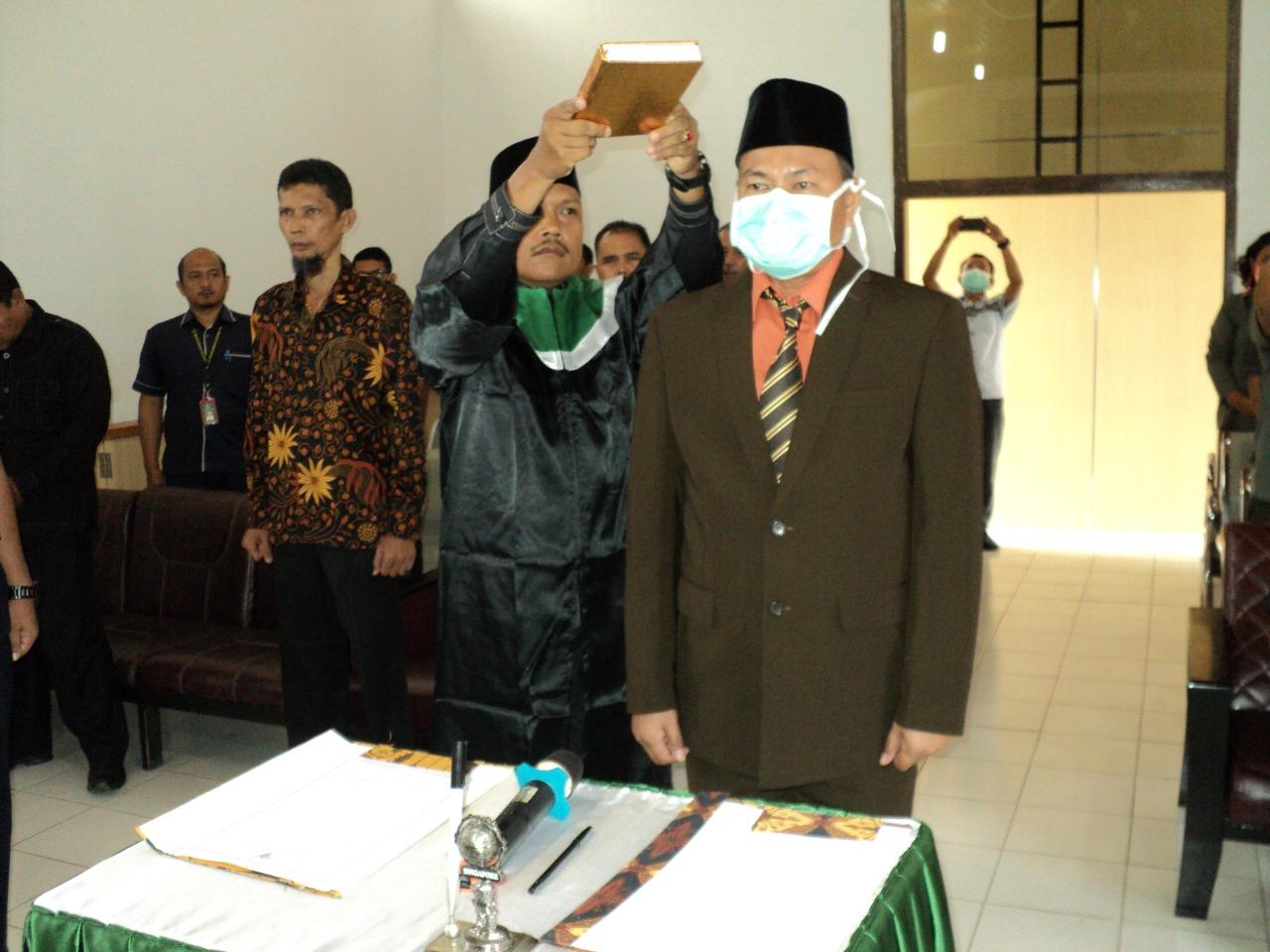 Pelantikan Bapak Arifin SH., MH. menjadi Panitera PN. Muara Bungo Kelas II...