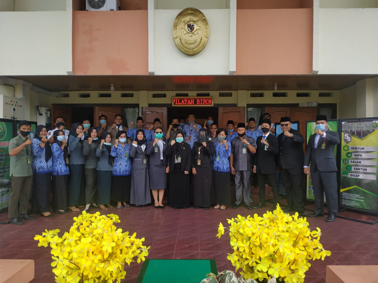 Upacara Memperingati Hari Pahlawan Tahun 2020 mengusung tema 'Pahlawanku Sepanjang Masa' di Pengadilan Negeri Muara Bungo Kelas II